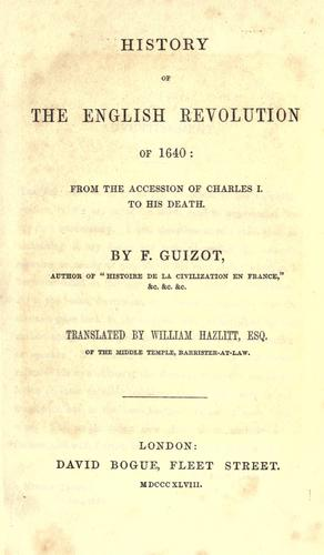 Download History of the English revolution of 1640