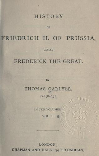 Download History of Friedrich 2 of Prussia, called Frederick the Great.