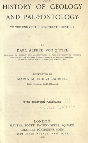 Download History of geology and palæontology to the end of the nineteenth century