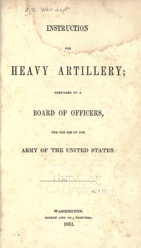 Download Instruction for heavy artillery