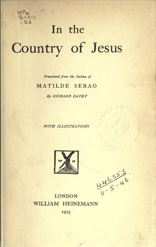 Download In the country of Jesus