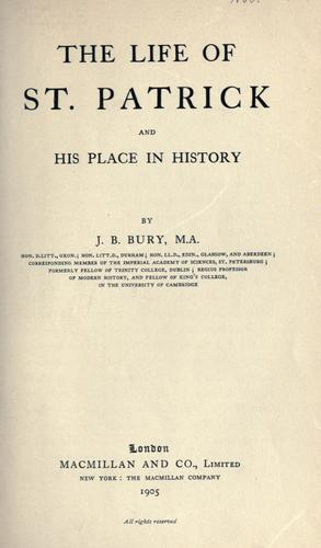 Download The  life of St. Patrick and his place in history