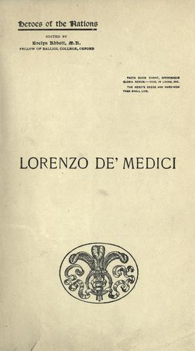 Lorenzo De' Medici and Florence in the fifteenth century