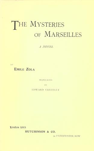 Download The mysteries of Marseilles