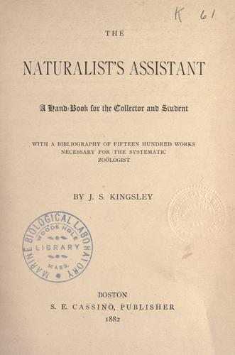 Download The naturalist's assistant