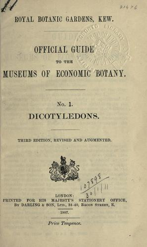 Download Official guide to the museums of economic botany.