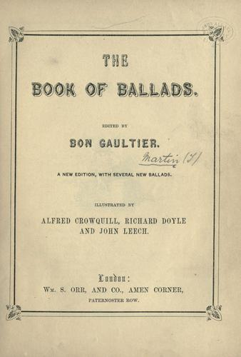 The book of ballads.