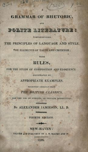 Download A grammar of rhetoric and polite literature