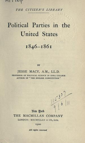 Download Political parties in the United States, 1846-1861.