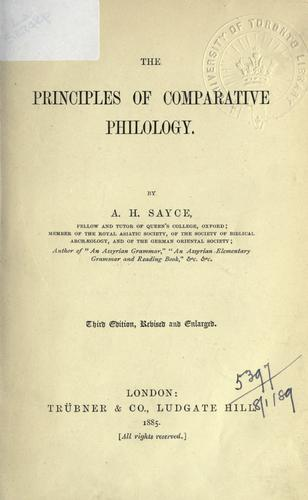 The principles of comparative philology.