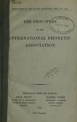 The principles of the International Phonetic Association.