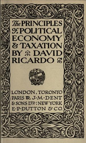 Download The principles of political economy & taxation