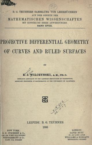 Projective differential geometry of curves and ruled surfaces.
