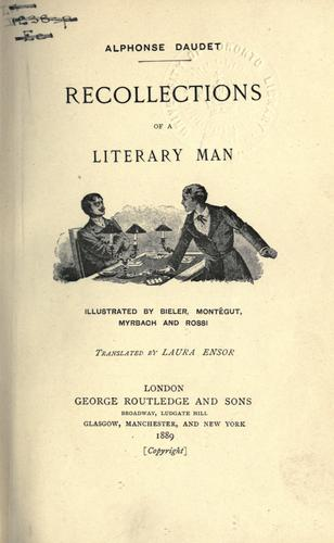 Recollections of a literary man.