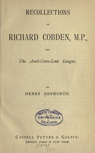 Download Recollections of Richard Cobden, M.P.