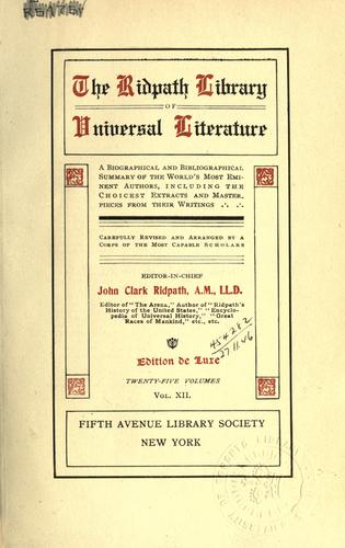 The Ridpath library of universal literature by John Clark Ridpath