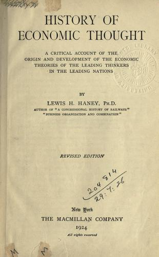 Download History of economic thought