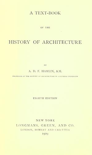 Download A text-book of the history of architecture