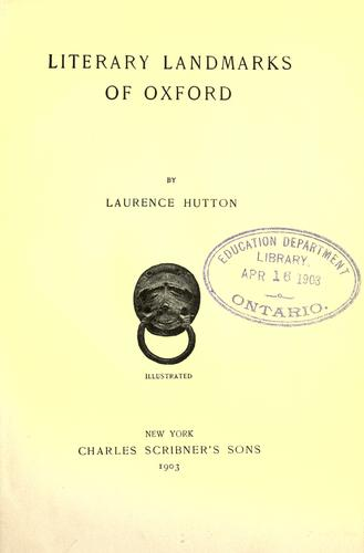 Download Literary landmarks of Oxford
