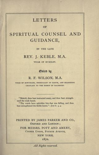 Download Letters of spiritual counsel and guidance