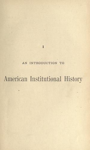 An introduction to American institutional history written for this series