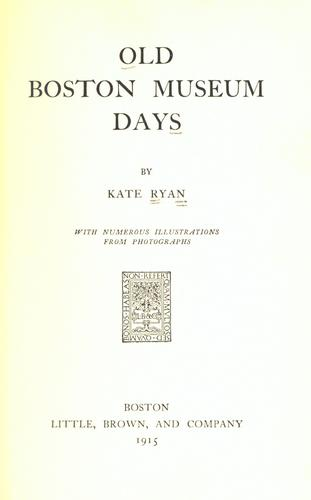 Download Old Boston museum days