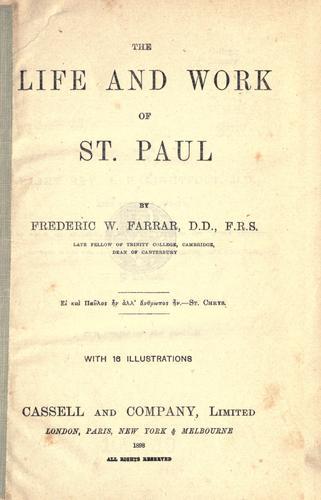 Download The life and work of St. Paul