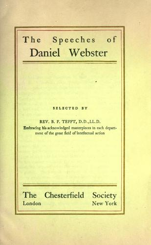 Download The speeches of Daniel Webster