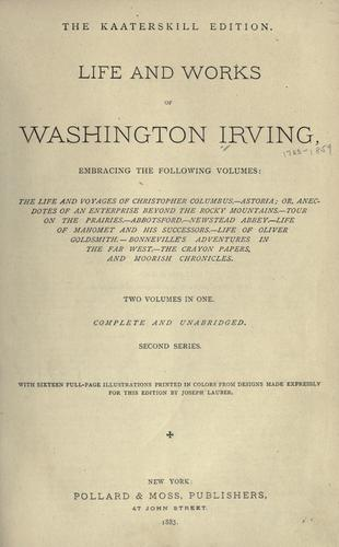 Download Life and works of Washington Irving …