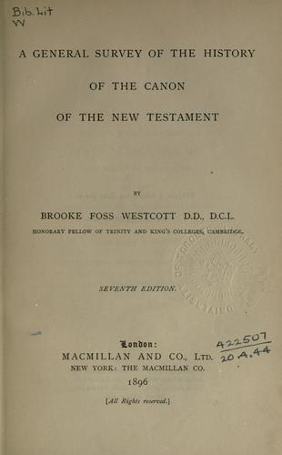 A general survey of the history of the canon of the New Testament.