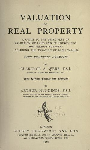 Valuation of real property