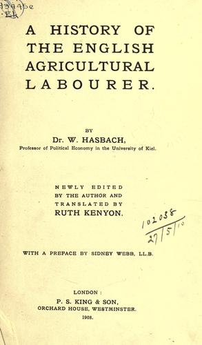 Download A history of the English agricultural labourer.