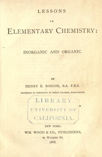 Download Lessons in elementary chemistry