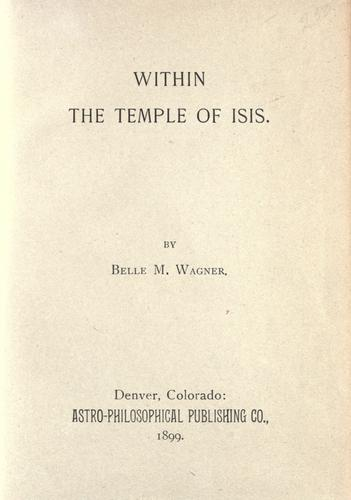 Within the temple of Isis.