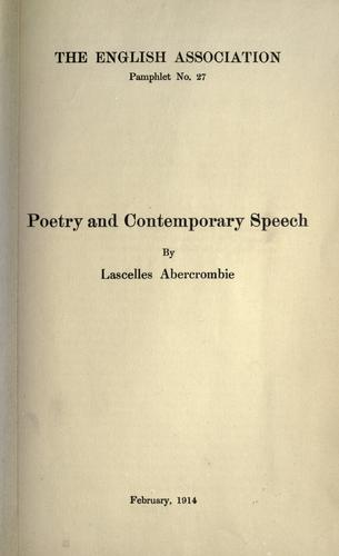 Download Poetry and contemporary speech.