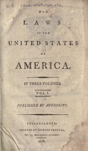 Download The laws of the United States of America