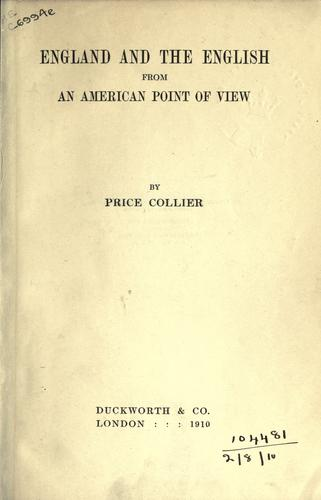 Download England and the English from an American point of view.