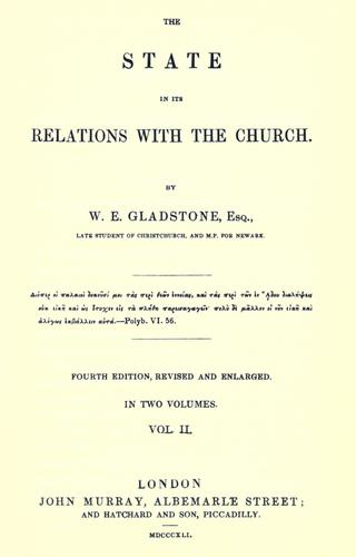 The state in its relations with the Church