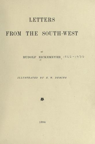 Letters from the Southwest