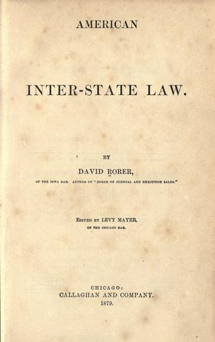 American interstate law.