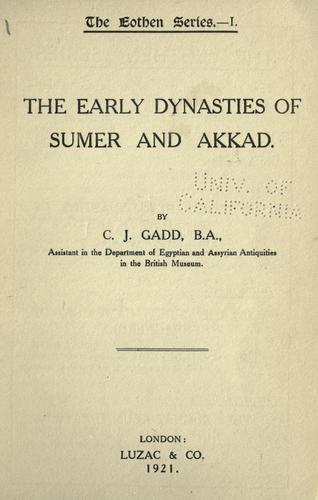 Download The early dynasties of Sumer and Akkad