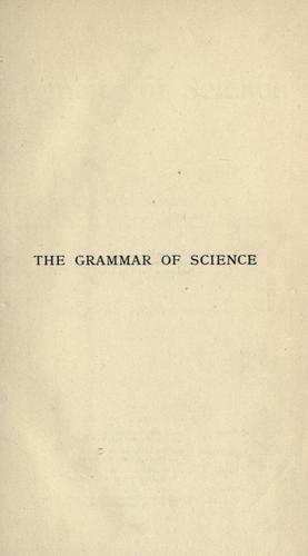 Download The grammar of science