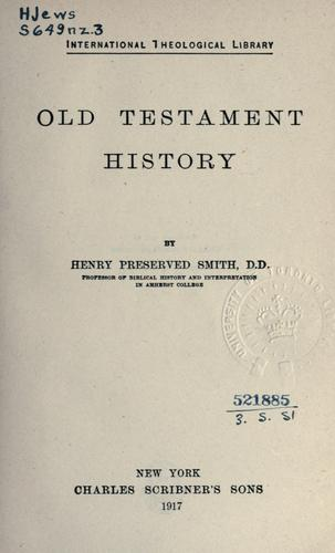 Old Testament history.