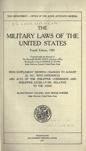 Download The military laws of the United States.