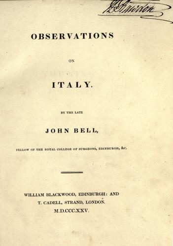 Download Observations on Italy