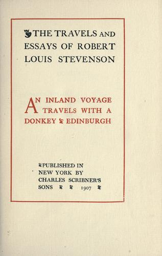 An  inland voyage ; Travels with a donkey ; Edinburgh