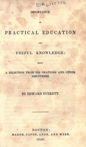 Importance of practical education and useful knowledge