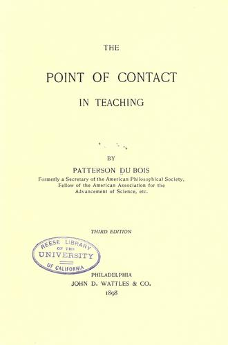 Download The point of contact in teaching