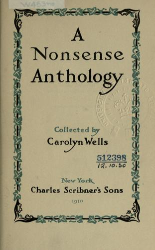 A nonsense anthology.