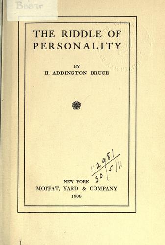 Download The riddle of personality.